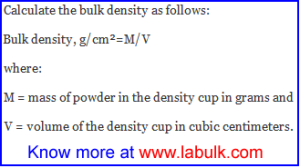 Calculation of Bulk Density